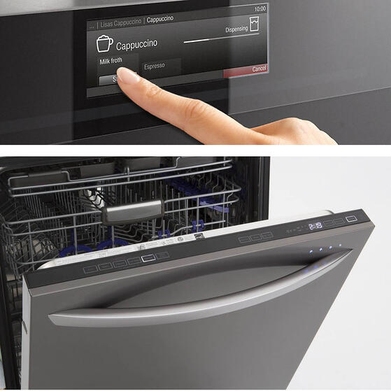 home appliance with touch buttons